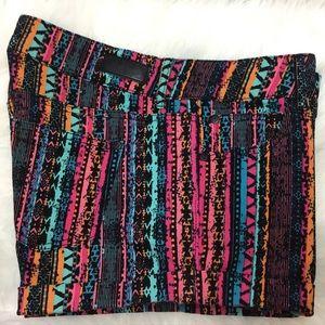 CELEBRITY PINK Multi-Color Stretch Shorts size 13